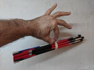 bundle held by fingertips to show how light weight